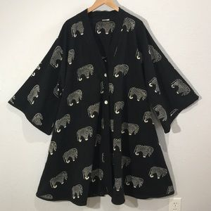 Sam Hilu African Safari Zebra swing jacket